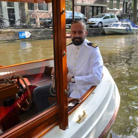 Reinhard Spronk Captain Private Boat Amsterdam